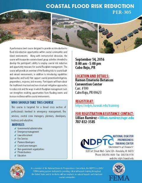 Coastal Flood Risk Reduction Workshop