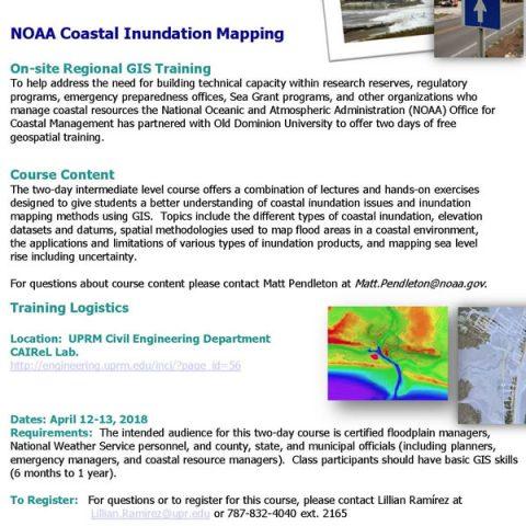 Taller de GIS para profesionales en recursos costeros